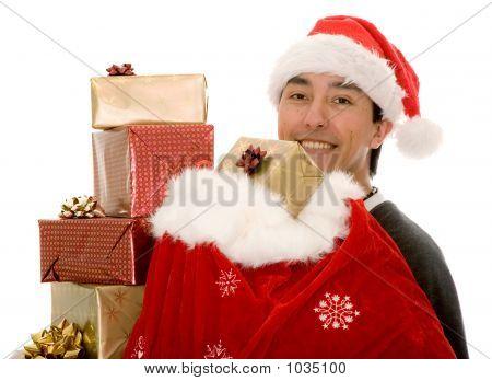 Santa Claus Full Of Gifts