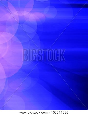 Bstract Blue Background With Light Effects