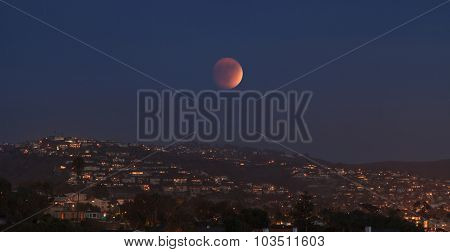 Blood moon / full moon