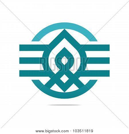 Logo design element symbol ribbon icon vector