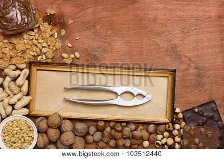 Various Nuts With Nut Tongs