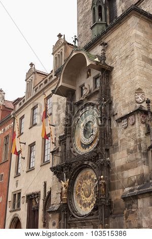 Famous Astronomical Clock On The Old Town Square