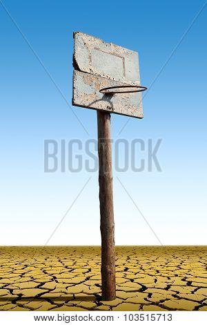 An Old Basketball Hoop