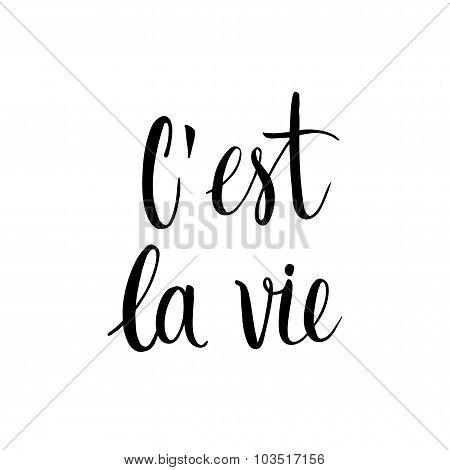 C'est la vie card