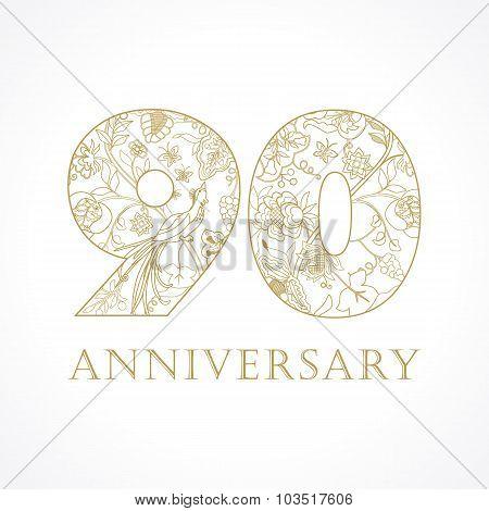 90 anniversary vintage numbers