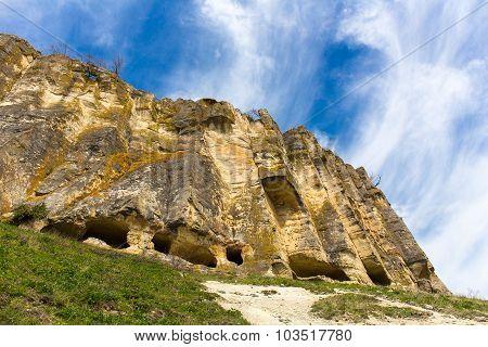 Medieval cave city Tepe-Kermen Crimea ancient city