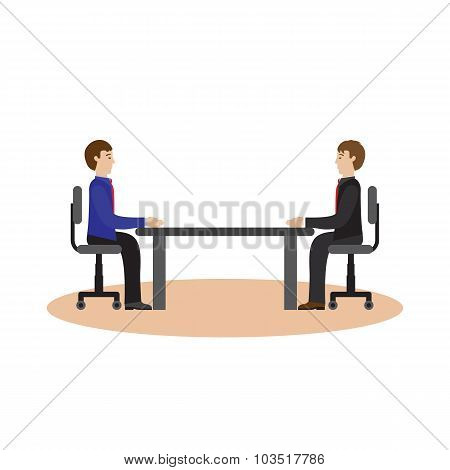Businesspeople Sitting At The Table.