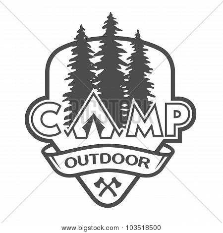 The camp outdoors hiking.