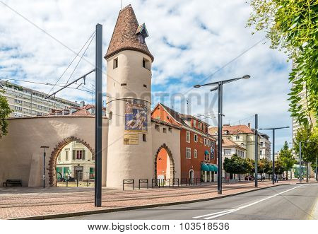 The Bollwerk Tower - Old Fortifications Of Mulhouse.
