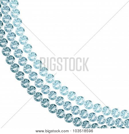 White Background With Blue Diamonds