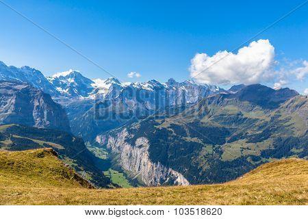 Panorama View At Mannlichen