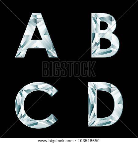 Diamond Letters. Alphabet Available In Portfolio.