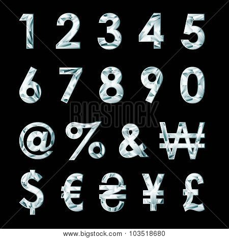 Diamond Numbers And Currency Symbols