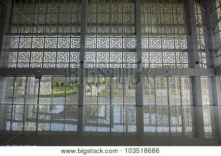 Wall of Ara Damansara Mosque in Selangor, Malaysia