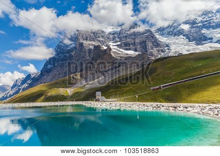 View Of Eiger Northface And Fallbodensee