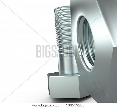Screw And Bolt, 3D