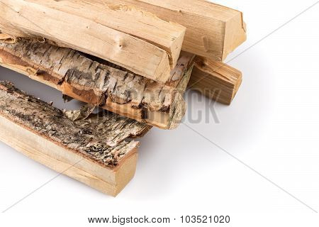 Stack Of Cut Logs Firewood