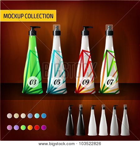 Tropical Mockup template bottles for branding and product designs