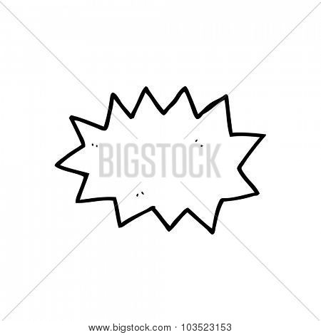 simple black and white line drawing cartoon  explosion symbol