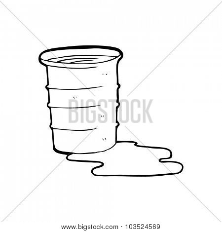 simple black and white line drawing cartoon  office water cup