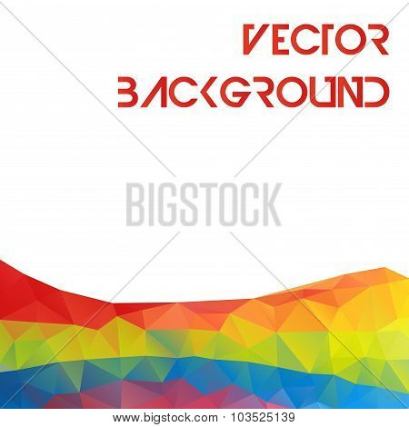 Abstract triangle multicolored geometrical mountains elements for design brochure, banner, card - ve