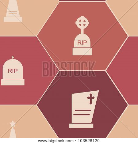 Seamless background with with grave