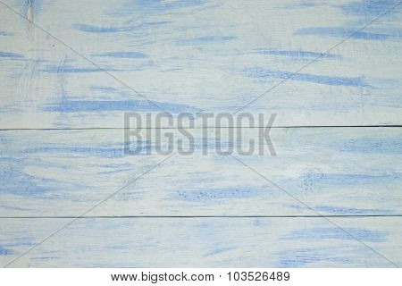 Textrure With Wooden Board With White Blue Color