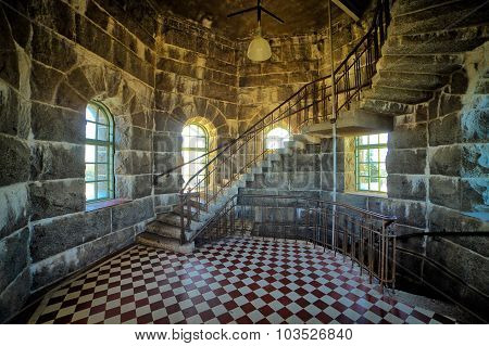 Staircase In Stone Room