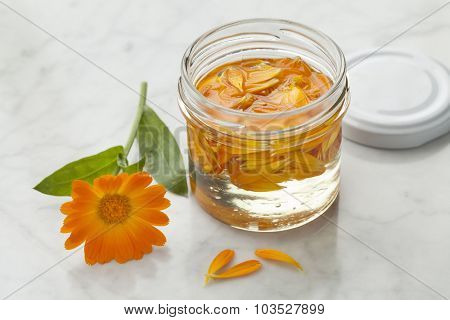 Pot marigold oil for cosmetic use