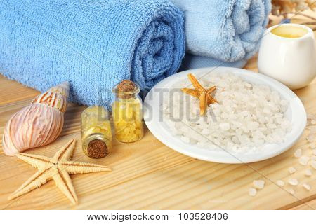Spa setting on table