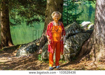 Senior sports woman