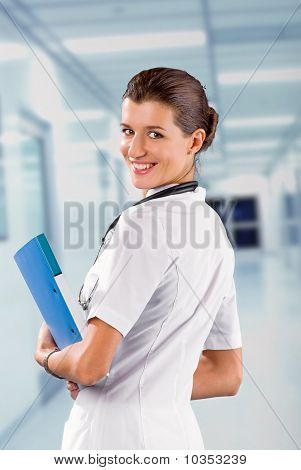 Woman Doctor At The Hospital