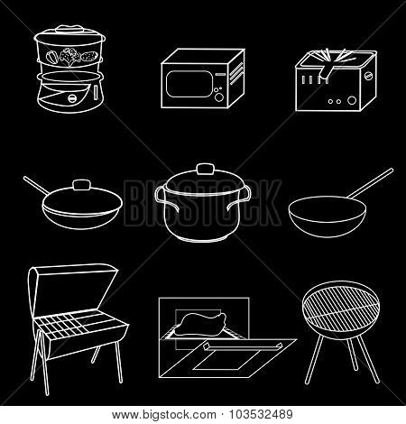 Methods Of Cooking. Vector Illustration