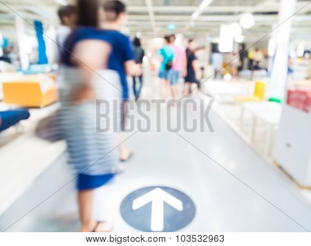 Family Shopping Home Decor Blur Store With Bokeh Background