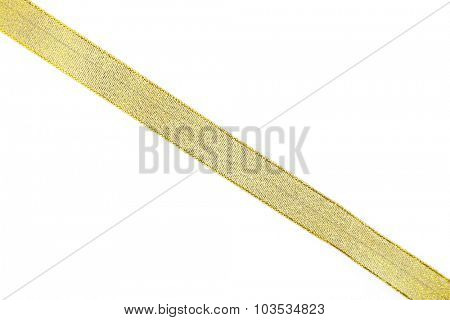 Yellow ribbon isolated on white