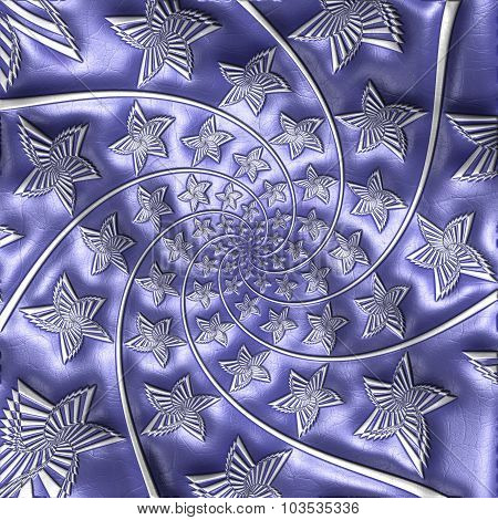 Fractal pattern on leather