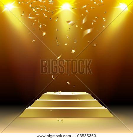Podium With Confetti