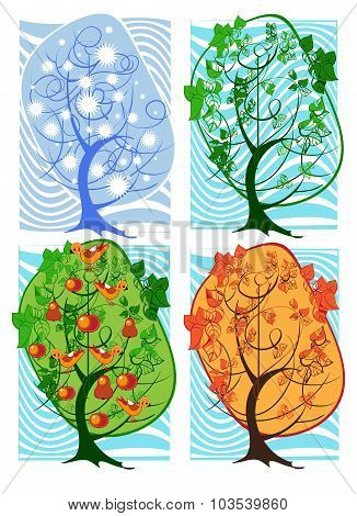 Four Seasons In A Tree