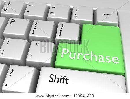 Purchase - Key On Keyboard