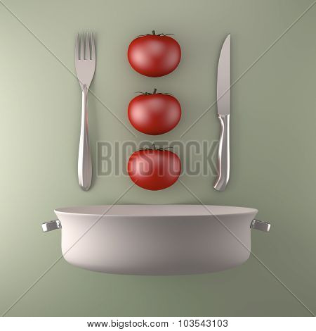 Artistic Food Composition