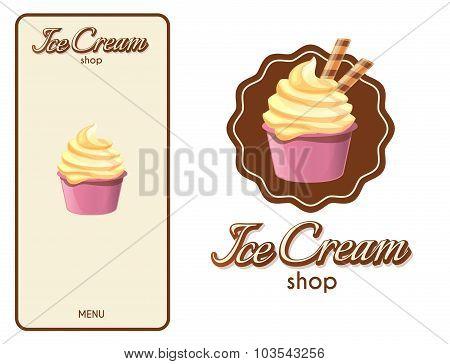 Logo Design Element. Ice Cream Shop.