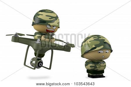 Mini Soldier With Drone.