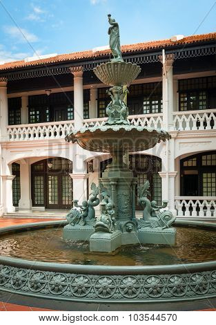 Ornamental  Fountain At The Courtyard