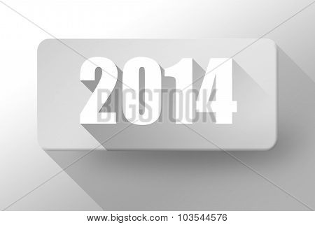 2014 New Year Widget And Icon 3D Illustration Flat Design