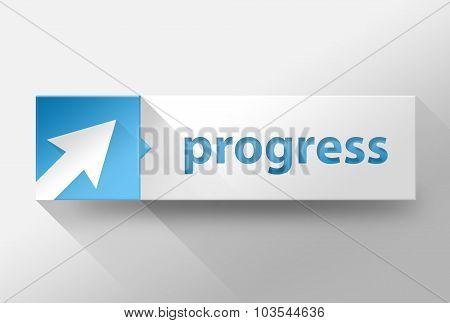 3D Business Progress Flat Design, Illustration