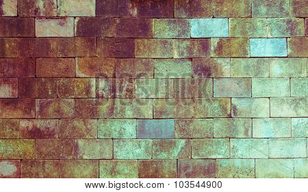 Background Of Old Brick Texture, Vintage Toning