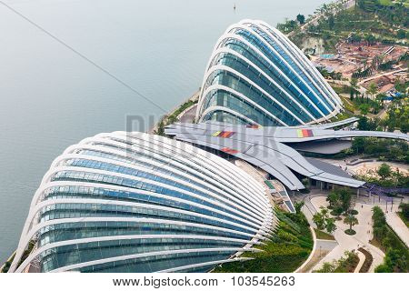 Enormous Domes Of Gardens By The Bay In Singapore, Two Enormous Greenhouses Comprise A Major Part Of
