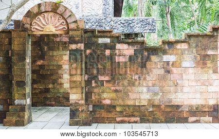 Brick Door And Wall