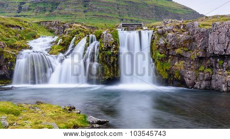 Waterfall At Kirkjufell Mountain, Iceland
