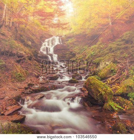 Beautiful Autumn Waterfall